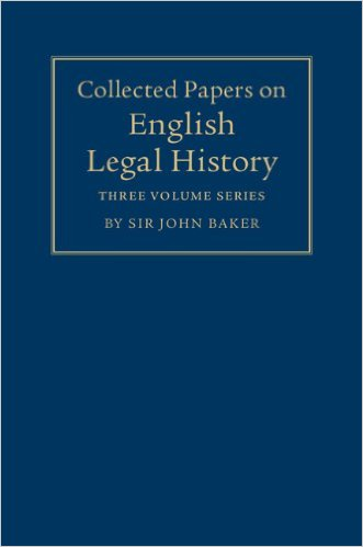 Collected Papers on English Legal History 3 Volume Set Box Edition