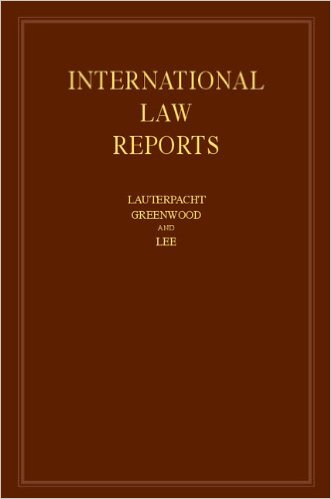 International Law Reports: Volume 154